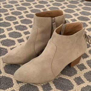Tahari Booties with Lace up Detailing